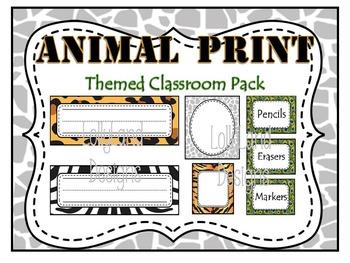 Animal Print Classroom Decoration Pack