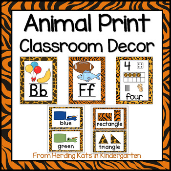Animal Print Classroom Poster Bundle