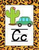 Animal Print Classroom Poster Bundle with D'Nealian Font