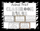Animal Print Classroom Rules