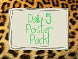 Animal Print Daily 5 Posters