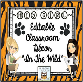 Classroom Decor Animal Print Editable