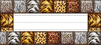 Animal Print Desk Name Plate