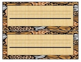 Animal Print Desk Name Plates