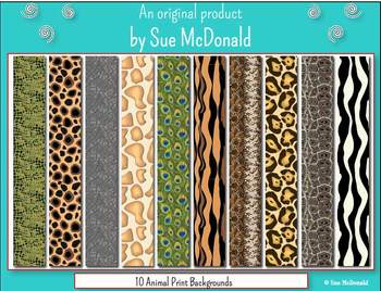 Backgrounds- 10 Animal Prints   - High Quality Vector Graphics