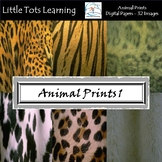 Animal Prints Digital Papers - Natural Animal Wool and Skin