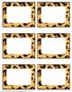 Animal Print EDITABLE Name Tags and Labels
