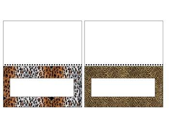Animal Print Foldies