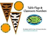 Animal Print Giraffe Flags and Classroom Numbers Green & Orange