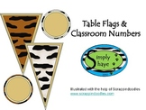 Animal Print Giraffe Flags and Classroom Numbers Neutral