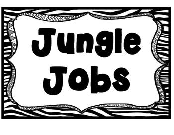 Animal Print Jungle Theme Job Cards Clip Chart' Poster