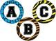 Animal Print / Jungle Themed 4 inch Circular Bulletin Board Letters