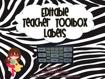 Animal Print Jungle Themed Teacher Toolbox Labels - Organization
