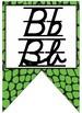 Animal Print / Jungle themed print and cursive Alphabet banner