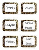 Animal Print Labels Pre-Made with Text
