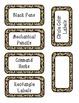 Animal Print Labels - Teacher Tool Box
