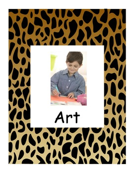 Animal Print Learning Center signs