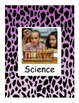 Animal Print Learning Center signs purple