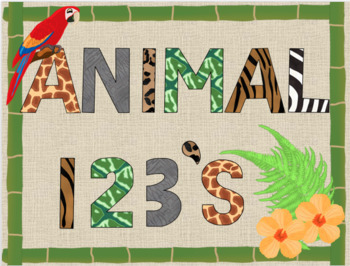 Bulletin Board Animal Print Letters and Numbers