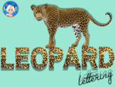 Leopard Animal Print Letters and Numbers Font Clip Art