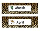 Animal Print Month Headings