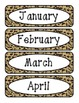 Animal Print - Months of the Year