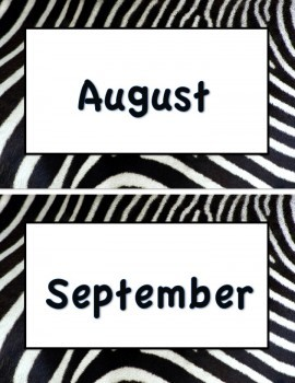 Animal Print (Months of the Year)