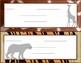 Animal Print Name Tags