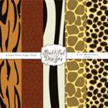 Animal Print Natural Paper Pack