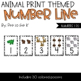 Animal Print Number Posters