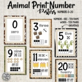 Animal Print Number posters - Numbers 0-20