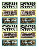 Animal Print Organizing Labels