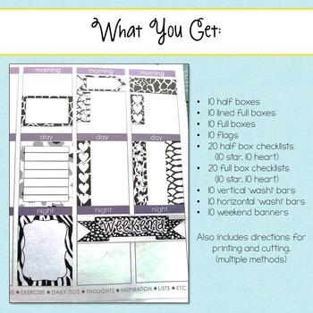 Animal Print Planner Stickers