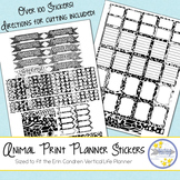 Animal Print Planner Stickers