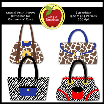 Animal Print Purses {Graphics for Commercial Use}