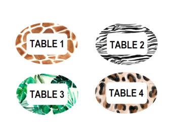 Animal Print/Safari Editable Labels