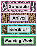 Animal Print Schedule Cards