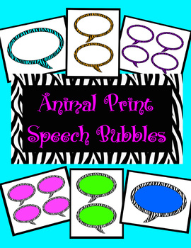 Animal Print Speech Bubbles *All 6 Color Themes