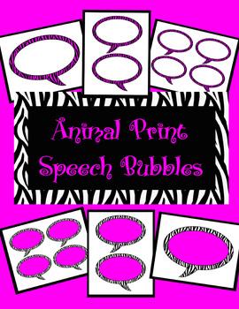 Animal Print Speech Bubbles *Hot Pink Zebra Theme