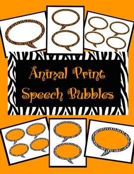 Animal Print Speech Bubbles *Tiger Theme