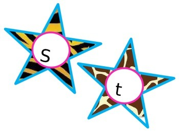 Animal Print Star Student Bulletin Board-Editable