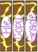 Animal Print Sterilite Labels