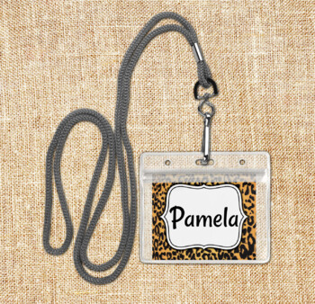 Animal Print Cubby Tags, Name Tags and Coat Hooks