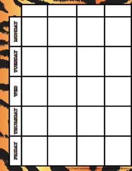 Animal Print Teacher Binder/Lesson Plan Template- EDITABLE