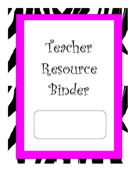 Animal Print Themed Teacher Binder