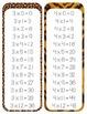 Animal Print Time Tables