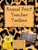 Animal Print Toolbox Labels