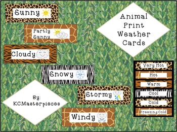 Animal Print Weather Cards