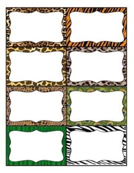Animal Print Word Wall Headers and Editable Word Wall Cards