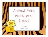 Animal Print Word Wall Headers